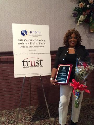 Sharon Benjamin nducted into the American College Health Care Administrators Certified Nurses Assistant Hall of Fame