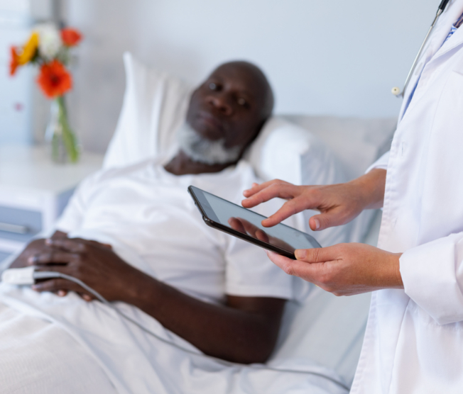 patient waiting to speak with doctor